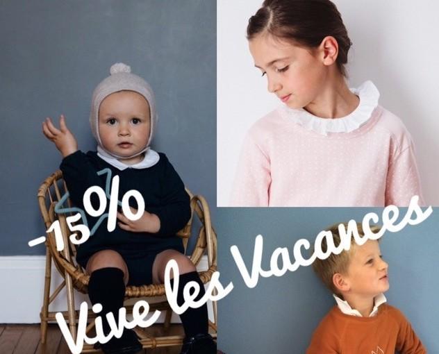Vive les vacances !!! -15% sur notre site !!!